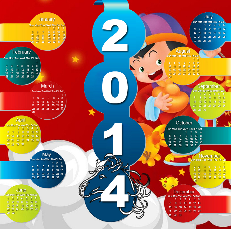 Free Chinese New Year Calendar