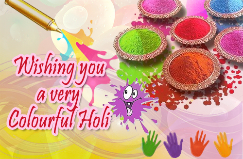 Online Holi Greeting Card