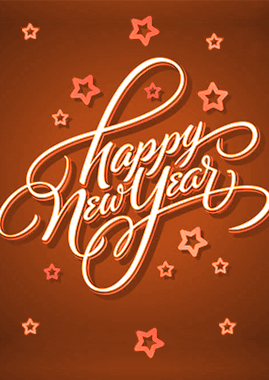 New Year Greetings Card