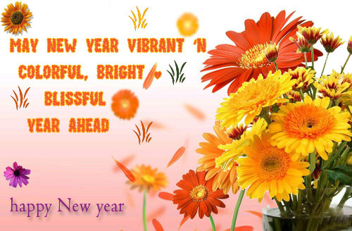 New Year Floral Card