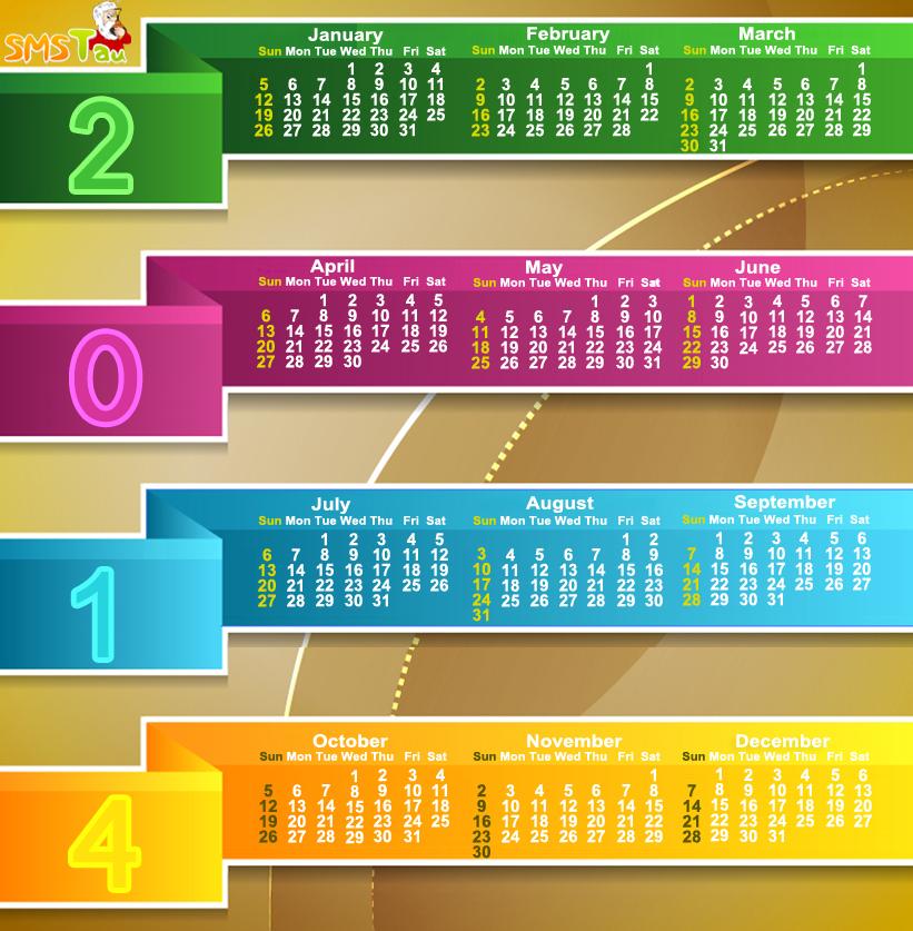 Online Calendar 2014