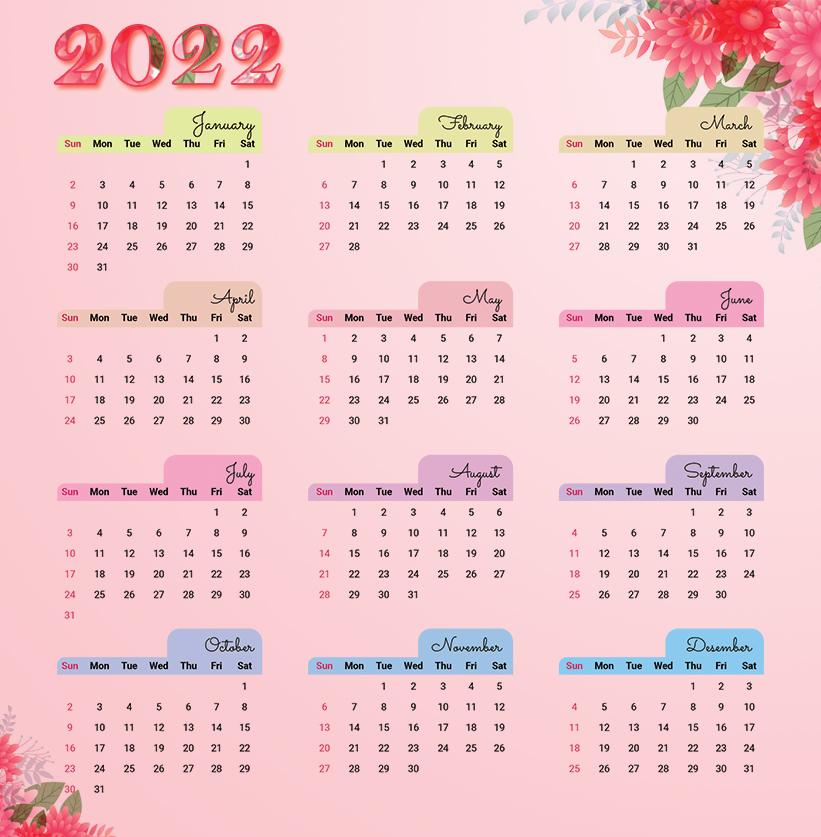 Free New Year Calendar