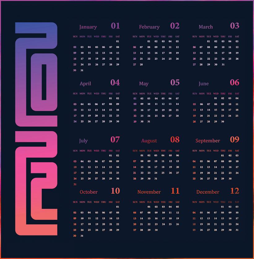 Online 2021 Calendar