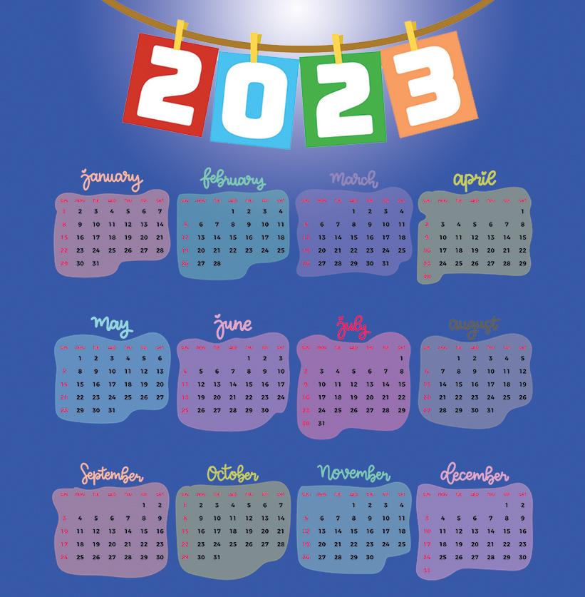 Printable New Year Calendar